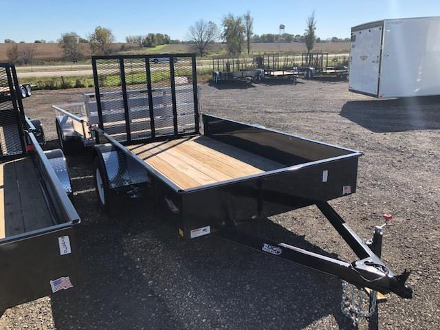 "2020 H and H Trailers 76""x10' Utility Solid Side Single Axle"