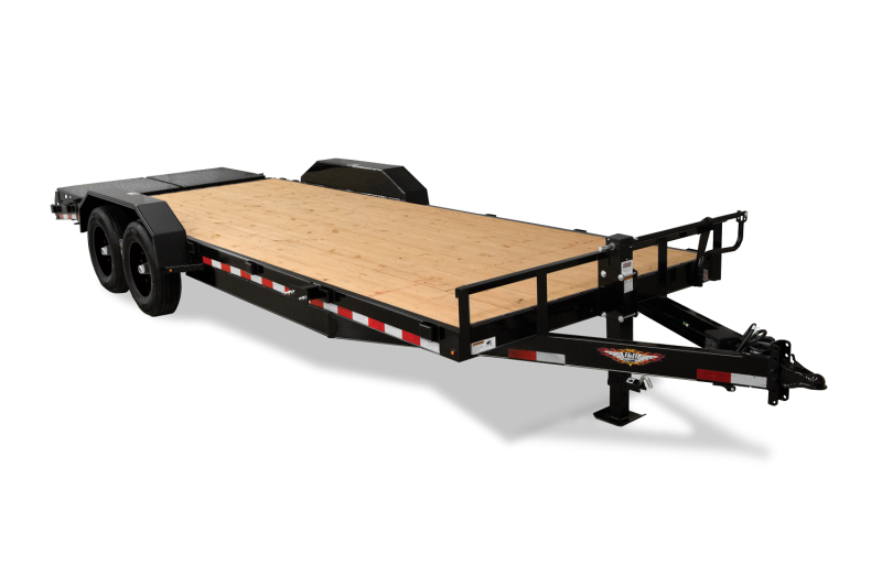 "2020 H and H Trailer 82""x16'+4' Equipment Trailer 8k Axles With Super Deluxe Ramps"