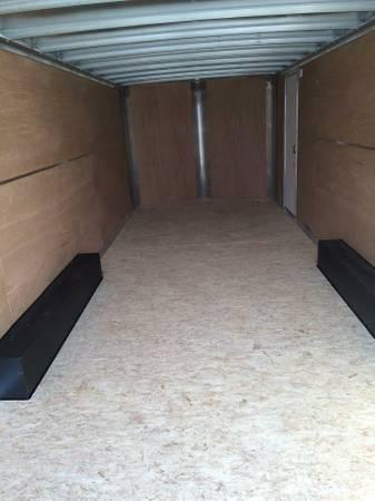 2020 H and H Trailers 101x24 Silver Enclosed Car Hauler V-nose Tandem Axle