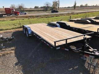"""2020 H and H Trailers 82""""x18+2' HD Flatbed Tandem Axles"""