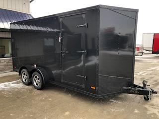 2020 RC Trailers 7'x16' Black Cargo 3.5k Axles Enclosed Flat Top V-Nose Trailer
