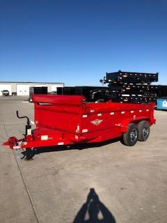 "2020 H and H Trailers 83""x14' Red 7k Axles Dump Box Trailer"