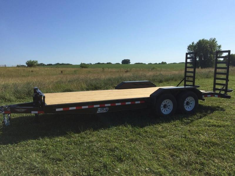"2019 H&H Trailers 82""x16+2' Industrial Flatbed Tandem Axles"