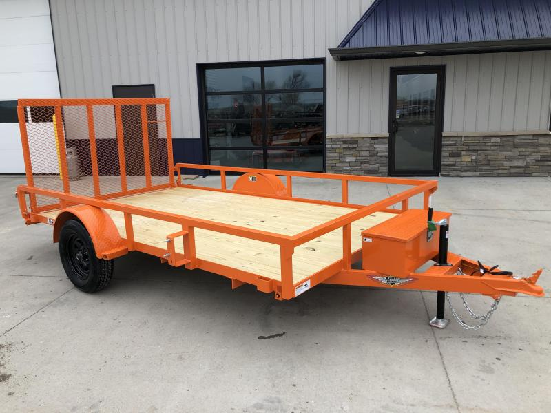 "2020 H and H Trailers 82""x12' Orange 3.5k Axle Rail Side Utility Trailer"