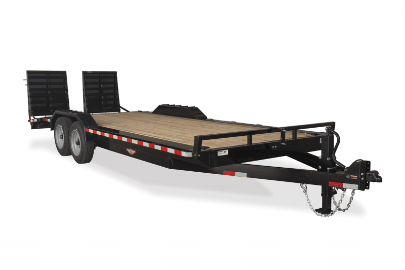 "2020 H and H Trailer 102""x18'+4' Full Width 8k Axles Industrial Equipment Trailer"
