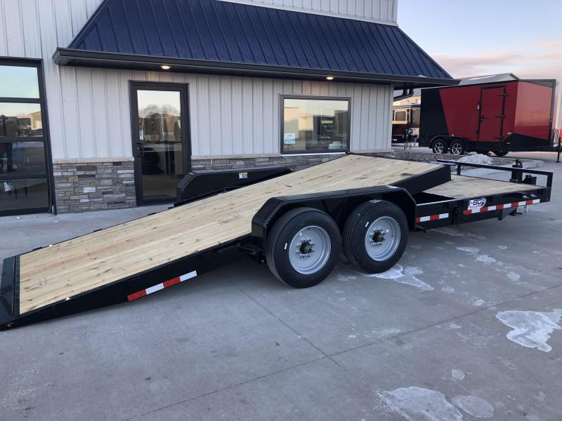 "2020 H and H Trailer GTL 82""x16'+6' Stationary Deck 8k Axles Gravity Tilt-Bed Equipment/Car Trailer"