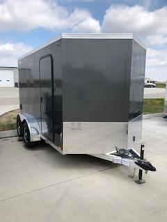 2019 Legend Trailers Charcoal Thunder  7'X12' + 2' V-Nose Tandem Axle Enclosed Cargo Trailer