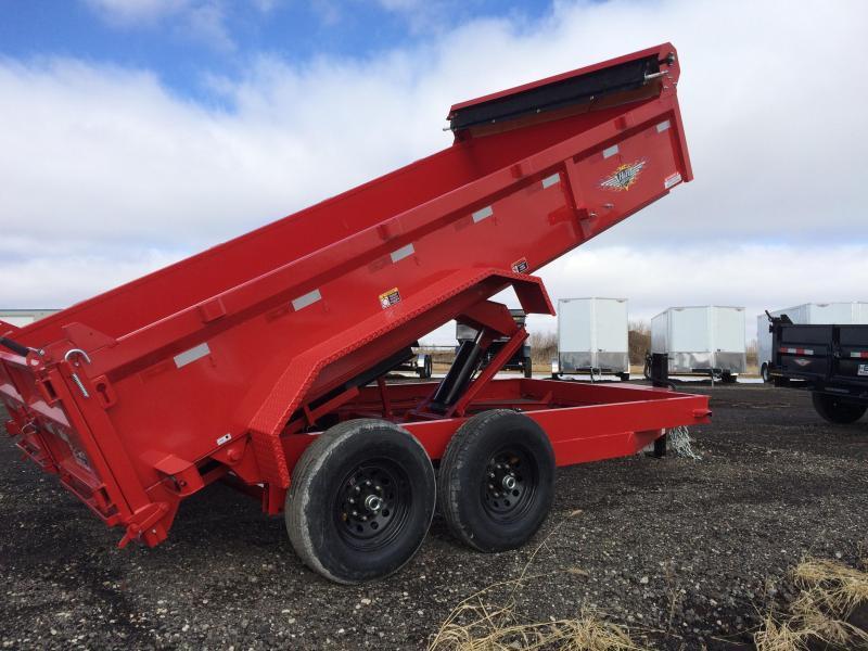 "2019 H&H Trailers 83""x16' - Red - DBW Dump Box Tandem Axle"