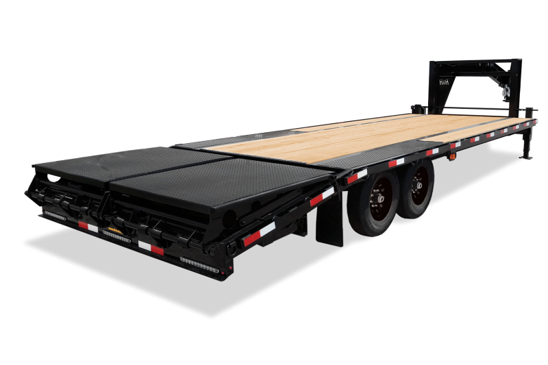 """2020 H and H 102""""x 20'+5' Gooseneck Low Pro 7k Axles Deckover Equipment Trailer with Super Deluxe Ramps"""