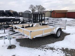 2020 H and H Trailers 8.5'x12' Aluminum Rail Side 3.5k Axle Utility Trailer