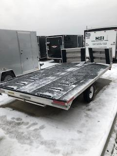 """2015 Used H&H 101""""x12'  2 Place Snowmobile Trailer"""