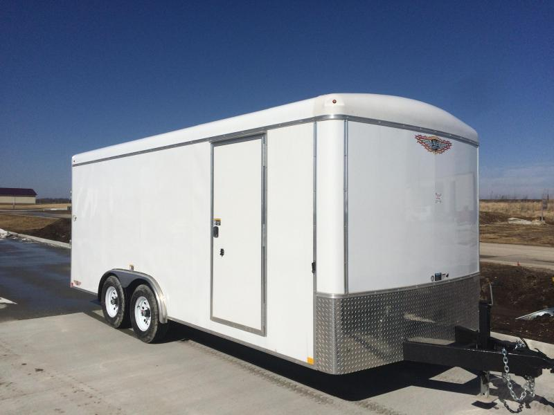 2020 H and H Trailers 8x16 Cargo White Round Top 5.2K Tandem Axle