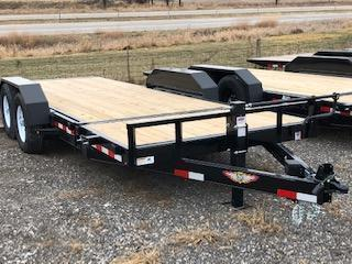 2020 H and H Trailers GTL 8.5'x16'+6' Stationary Deck 7k Axles Gravity Tilt-Bed Equipment Trailer