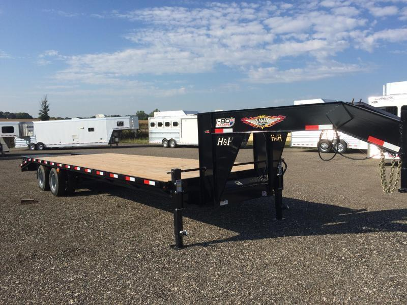 "2019 H and H 102""x20+5' Gooseneck Lo Pro Deckover Super Deluxe Dual Tandem Axles"