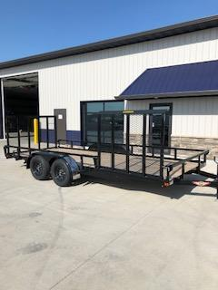 "2020 H and H Trailers 82""x18' Steel Rail Side Tandem Axle 3.5K Utility Trailer"
