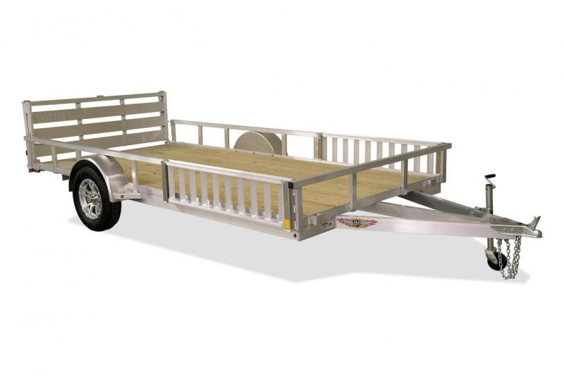 "2020 H and H Trailers 82""x14' Aluminum ATV Utility Rail Side Single Axle"