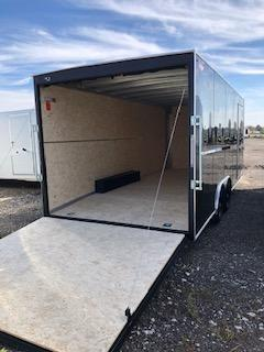 "2020 H and H Trailers 101""x16' Black Cargo V-Nose 5.2k Tandem Axle"