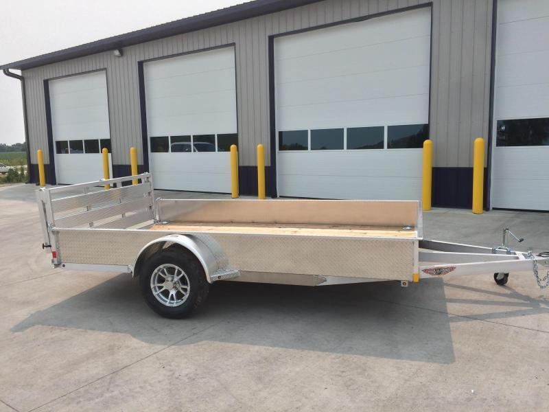 """2020 H and H Trailers 76"""" x12' Utility Solid Side Single Axle"""