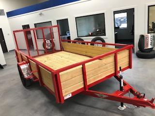 "2020 H and H Trailers 82""x12' Wood Side 3.5k Axle Utility Trailer"