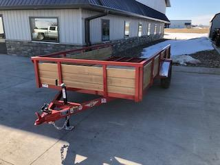 """2020 H and H Trailers 82""""x12' Steel Wood Side 3.5k Single Axle Utility"""