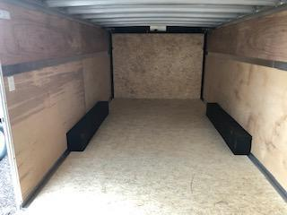 """2020 H and H Trailers 101""""x20' White Enclosed 3.5k Tandem Axle V-Nose"""