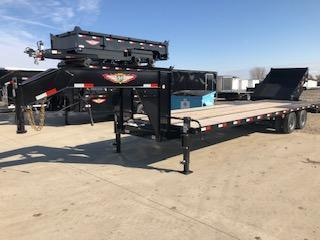 """2020 H and H 102""""x 25'+5' Gooseneck 10k Axles Low Pro Deckover Equipment Trailer with Super Deluxe Ramps"""