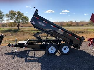 "2020 H and H Trailer 83""x12' Black Tandem Axle DBW Dump Box"