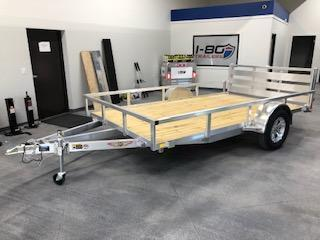 "2020 H and H Trailers 76""x12' Utility Rail Side Single Axle"
