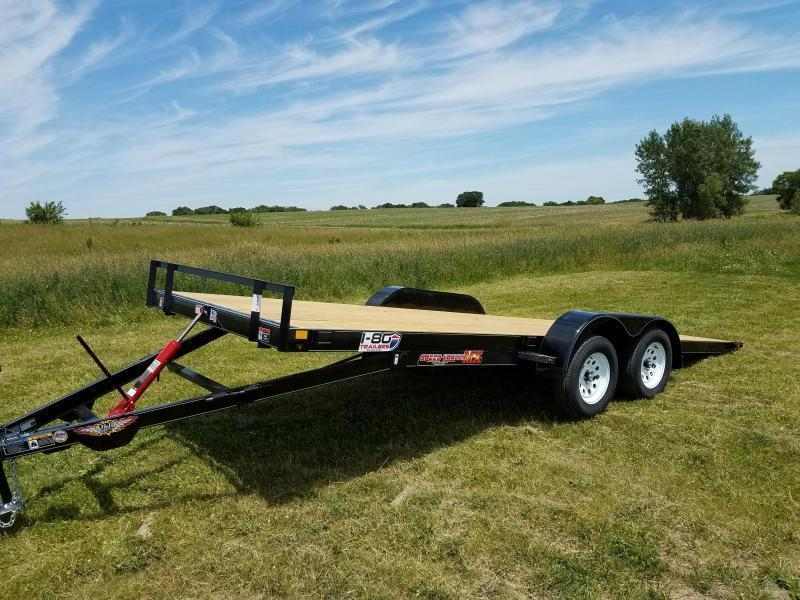 "2020 H and H Trailers 82"" x20' Manual Tilt 5.2k Axles Tilt-Bed Speedloader Equipment/Car Trailer"