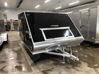 "2020 Legend Manufacturing 101""x13' Black Enclosed Hybrid Snowmobile Trailer"