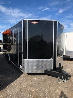 "2020 H and H Trailers 101""x 20' Black Enclosed V-Nose 5.2k Tandem Axle Car Hauler"