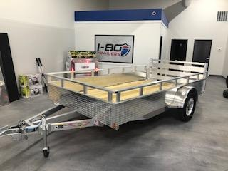 "2020 H and H Trailers 76""x12' Aluminum 3.5k Axle Utility Solid Side Trailer"
