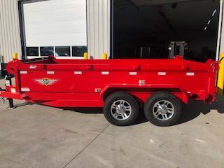 "2020 H and H Trailers 83""x14' Red DBW Dump Box Trailer"