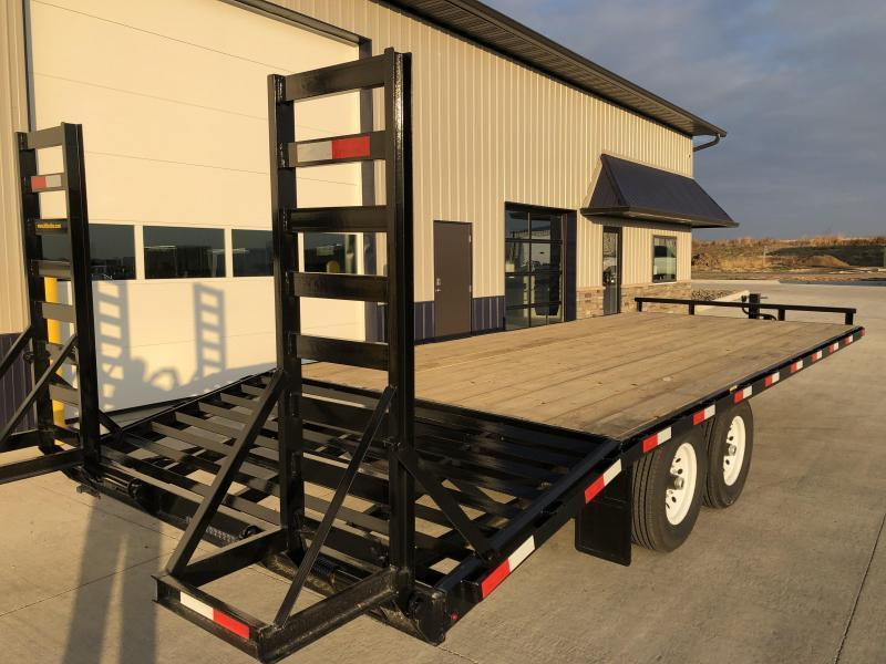 "2020 H and H 102"" x18'+4' Deckover 7k Tandem Axle Equipment Trailer"
