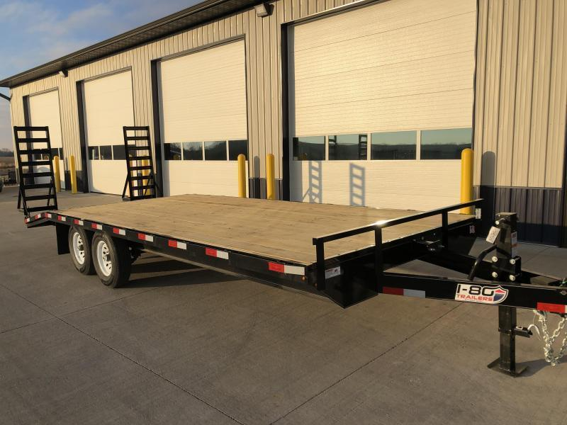"""2020 H and H 102"""" x18'+4' Deckover 7k Tandem Axle Equipment Trailer"""