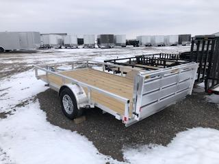 """2020 H and H Trailers 82""""x14' Aluminum 3.5k Axle Utility Rail Side Trailer"""
