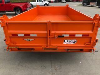 "2020 H and H Trailers 83""x14' Orange Dump Box Trailer"