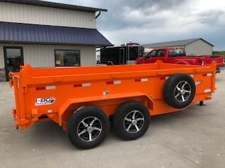 "2020 H and H Trailers 83""x14' Orange 7k Axles Dump Box Trailer"