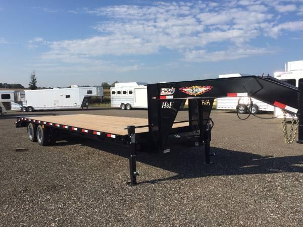 2019 H and H Trailers 25'+5' Gooseneck Low Pro Deckover Super Deluxe Ramps