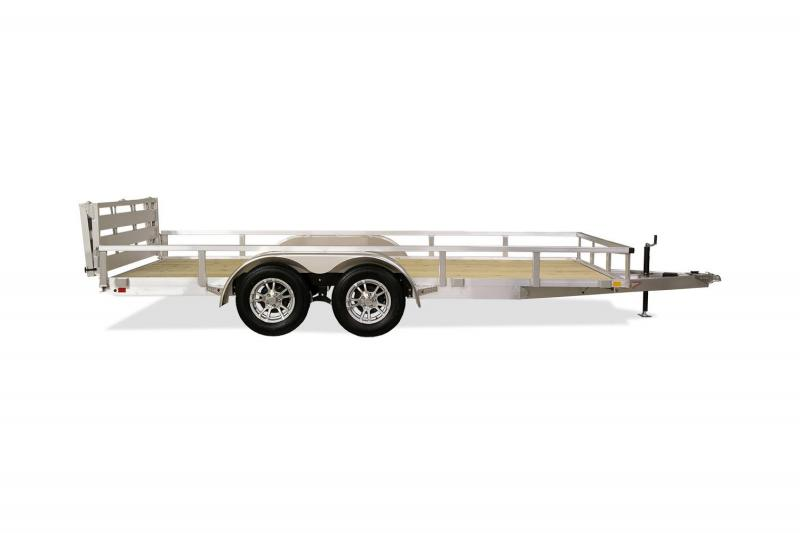 2020 H and H Trailers 8.5'x16' Utility Rail Side Tandem Axle