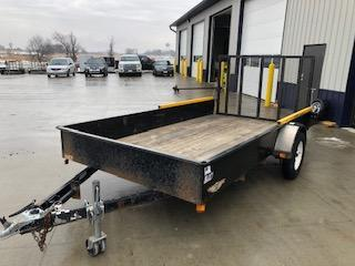 "USED 2008 H and H Trailers 76""x12' Steel Solid Side Single Axle Utility Trailer"