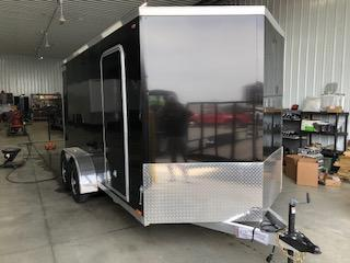 2019 Legend Trailers Black Thunder  7'X14' + 2' V-Nose Tandem Axle Enclosed Cargo Trailer