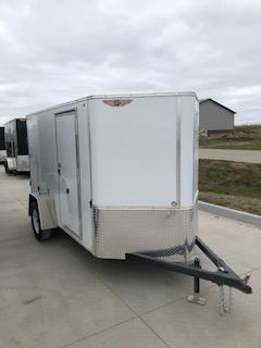 2020 H and H Trailers 5'x10' Cargo White Flat Top Single Axle