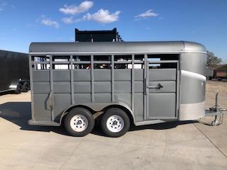 2020 S and S Dura-Line 6X16 Gray Tandem Axle Livestock Livestock Trailer