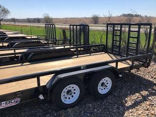 """2020 H and H Trailers 8.5""""x18' Heavy Rail Side Tandem Axle"""