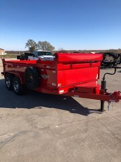 """2020 H and H Trailers 83""""x14' Red Dump Box Trailer"""