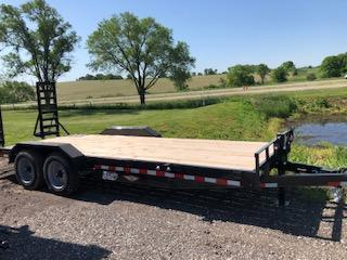 "2020 H and H Trailers 82""x18+2' Industrial Flatbed Tandem Axles"