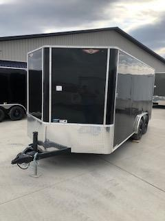 2020 H and H Trailers 8'x16' Cargo Black Flat Top V-Nose Tandem 5.2k Axle