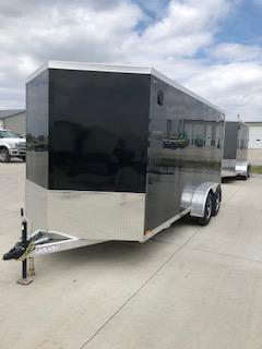 2019 Legend Trailers Black Thunder  7'X16' + 2' V-Nose Tandem Axle Enclosed Cargo Trailer