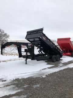 "2020 H and H Trailers 83""x14' Black 7k Axles Gooseneck Dump Box Trailer"